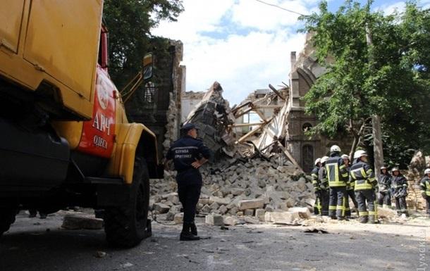 Обрушение дома в Одессе: людей под завалами нет