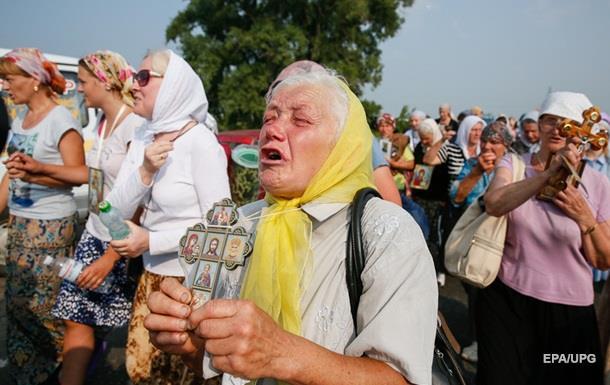 После молебна в Киеве госпитализировали двух человек