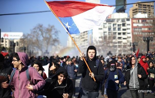 В Чили на акции протеста студентов задержали 50 человек