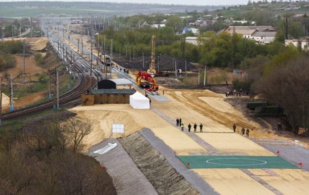 В РФ часть работ на железной дороге в обход Украины закончили досрочно