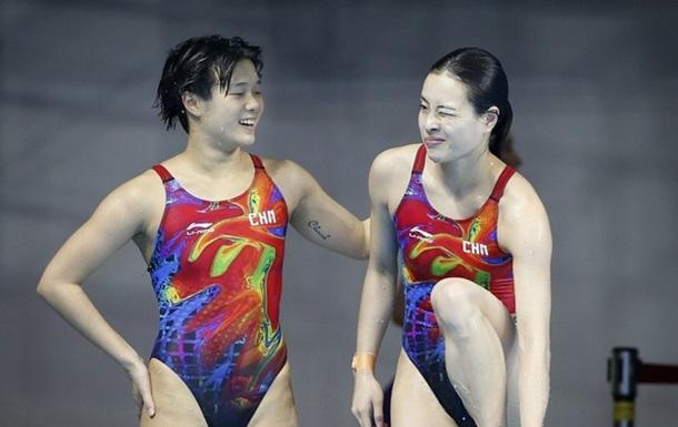 Прыжки в воду. Китаянки лучшие на трехметровом трамплине