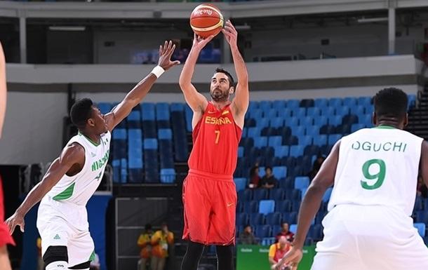 Баскетбол. Испания с трудом обыгрывает Нигерию