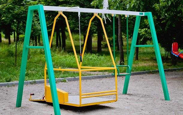 В Одессе появились качели для людей с ограниченными возможностями