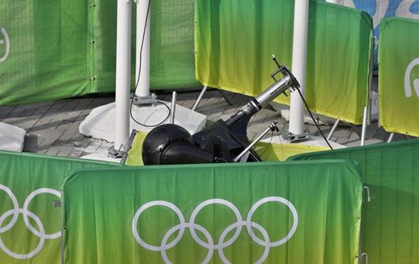 Камера упала на болельщиков во время Олимпиады