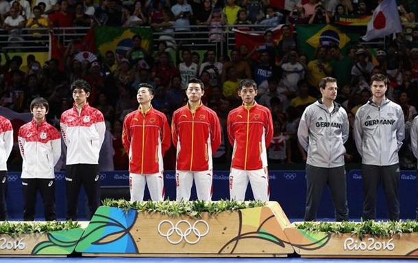 Настольный теннис. Китай - чемпионы в команде