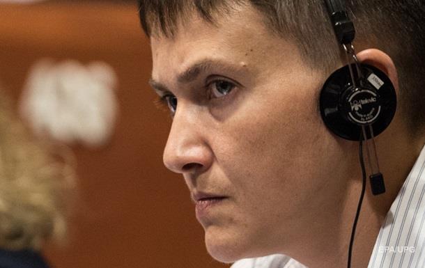 Голодающая Савченко уехала в США на званый ужин