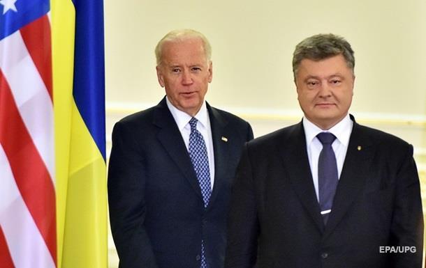 Крым стал темой общения для Порошенко и Байдена