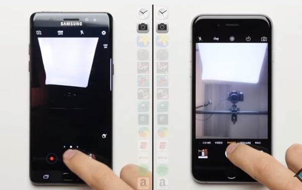 Блогер сравнил быстродействие Galaxy Note 7 и iPhone 6S