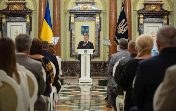 Порошенко недоволен долей украинского языка на ТВ