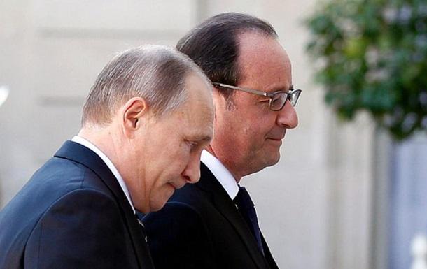 Олланд напомнил Путину о неприятии аннексии Крыма