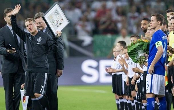 Бастиан Швайнштайгер сегодня проведет последний матч засборную Германии