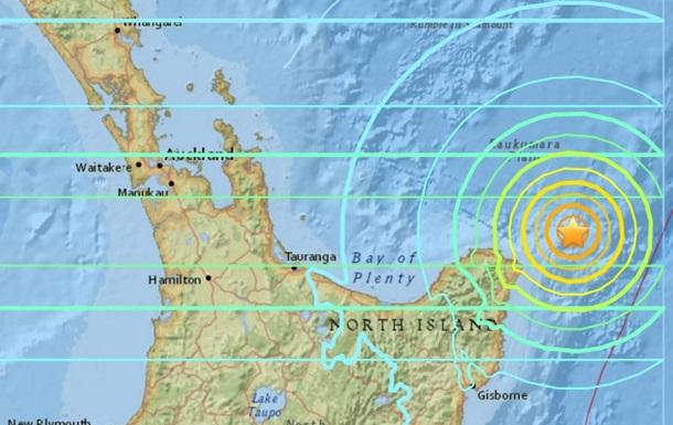 Возле Новой Зеландии произошло мощное землетрясение
