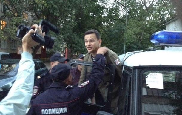 В Москве задержали оппозиционера Яшина
