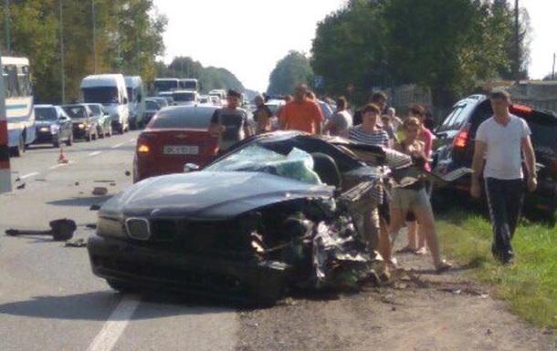 Побег от полиции: BMW разорвало пополам