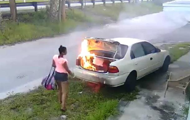 Американка, жаждущая отомстить бывшему, сожгла чужое авто