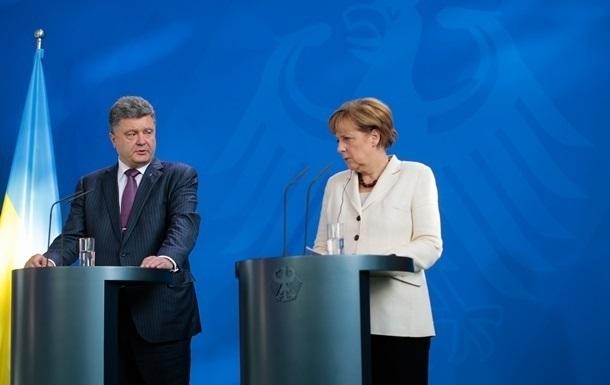Меркель призвала Порошенко к выполнению Минска-2