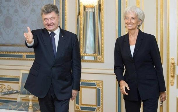 Порошенко и Лагард договорились о приезде миссии МВФ в Украину