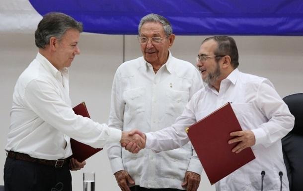 Руководство Колумбии иFARC подписали соглашение озавершении конфликта