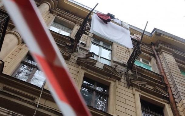 В центре Одессы обвалился балкон