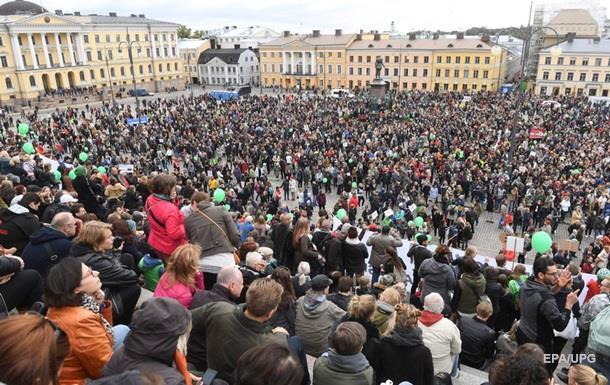 В Хельсинки тысячи человек протестовали против расизма