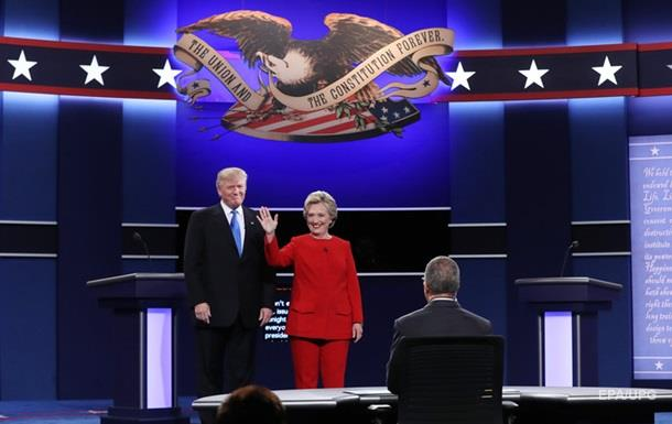 В США проходят теледебаты Клинтон с Трампом