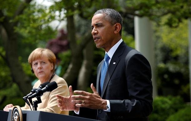 Обама и Меркель призывают к разведению сил на Донбассе