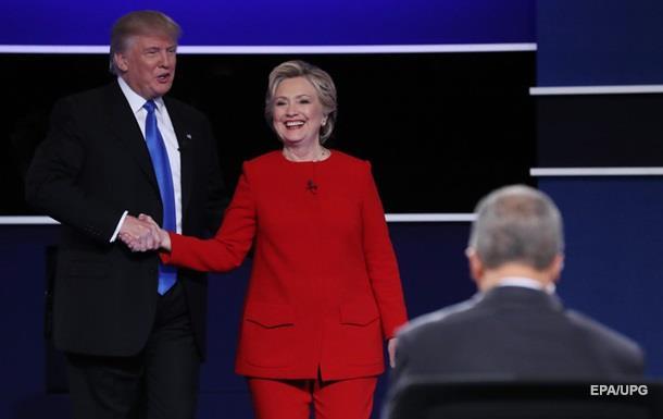 Выборы в США: Клинтон впереди Трампа на 5%