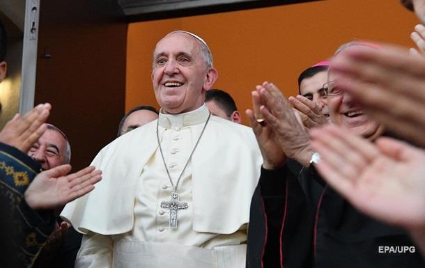 Папу Франциска вГрузии встретила акция протеста православного духовенства