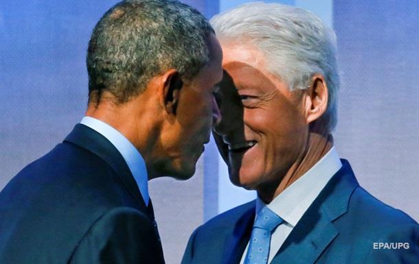 Обама еле уговорил Клинтона лететь домой