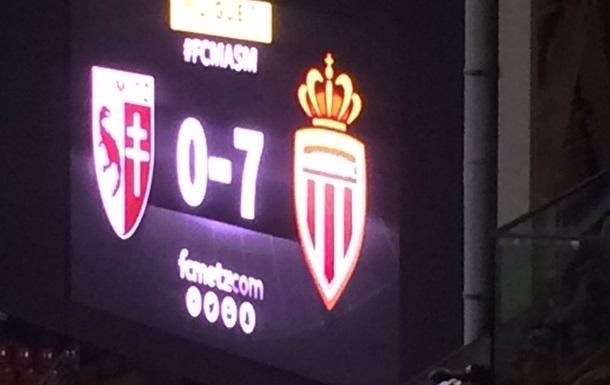 Лига 1. Монако забивает семь, минимальные победы Кана, Лилля и Нанта