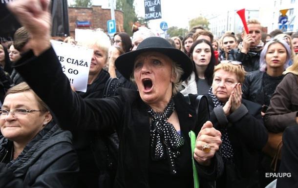 В Польше проходят митинги против запрета абортов