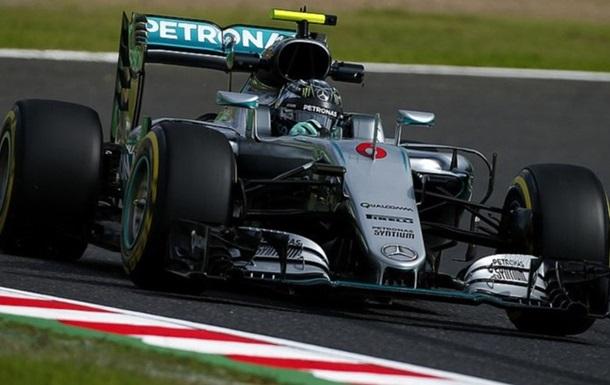 Формула-1. Гран-при Японии. Росберг -  самый быстрый во второй тренировке