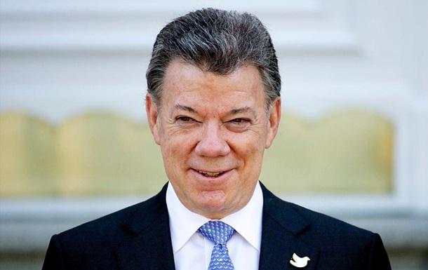 президент Колумбии - нобелевский лауреат