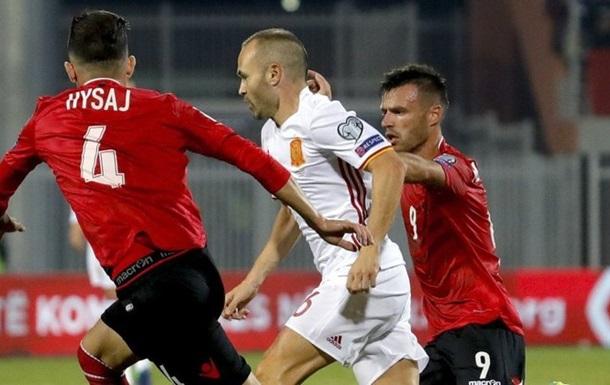Группа G. Испания победила Албанию, Италия вырвала победу в Македонии