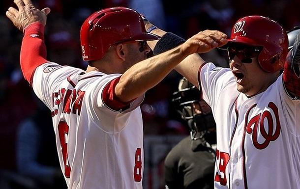 Бейсбол. Вашингтон сравнивает счет в серии с Доджерс