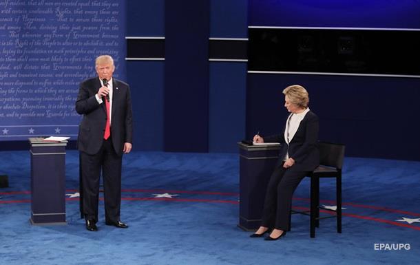 Предвыборные штабы Клинтон иТрампа присвоили победу надебатах каждый своему кандидату