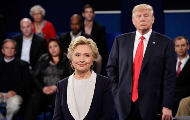 Клинтон победила Трампа на теледебатах - опрос