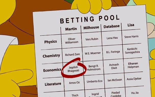 Симпсоны  предсказали двух нобелевских лауреатов