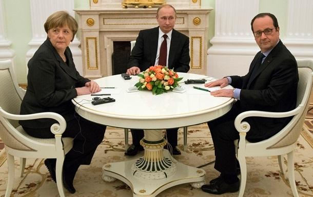 Меркель, Олланд и Путин обсудили саммит по Украине