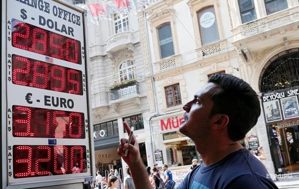 Курс турецкой лиры упал дорекордной завсю историю отметки