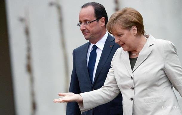 Олланд и Меркель обсудили ситуацию на Донбассе