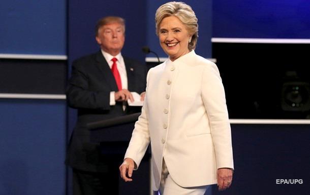 Клинтон обошла Трампа в финальных дебатах