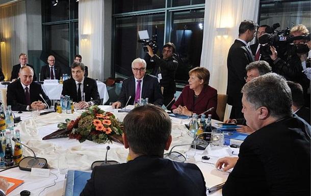 Встреча нормандской четверки: Путин и Порошенко