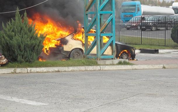 На КПП у границы с Польшей сгорело авто