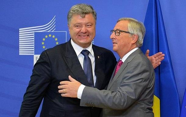 Порошенко обсудил с Юнкером саммит Украина-ЕС