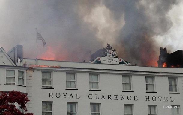 В Англии сгорел самый старый отель