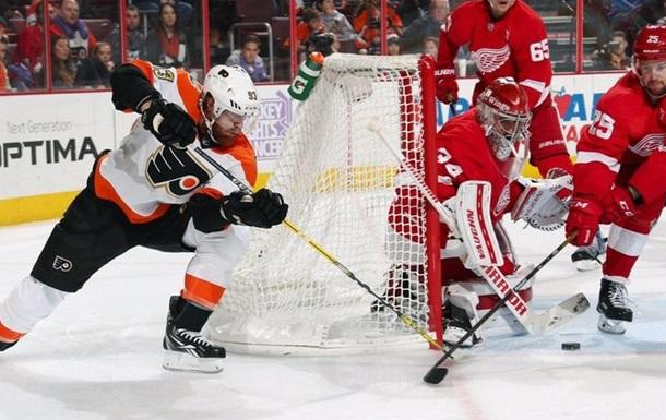 НХЛ. Филадельфия сильнее Детройта в овертайме, победы Питтсбурга и Монреаля