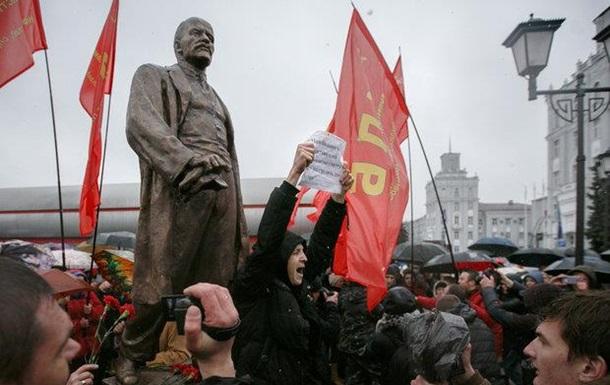 В Минске с потасовкой открыли памятник Ленину