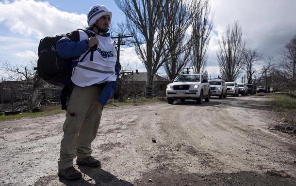 Миссия ОБСЕ попала под обстрел в Донецкой области