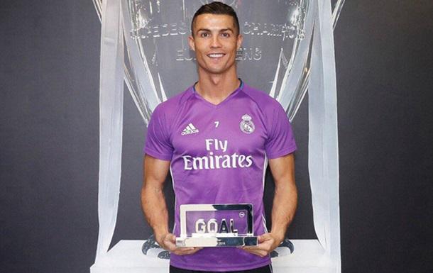 Роналду - лучший игрок года по версии Goal
